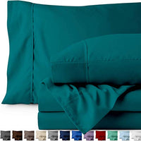 Bare Home Queen Sheet Set 1800 UltraSoft Microfiber Bed Sheets Double Brushed Breathable Bedding Hypoallergenic Wrinkle Resistant Deep Pocket Queen Emerald GWV-B01FGABSCM