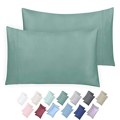 California Design Den 600 Thread Count Pillowcase Set of 2 100 LongStaple Combed Cotton Breathable Soft Sateen Weave Luxury Hotel Quality Pillow Cases King Sage nU2-B079WXRCCN