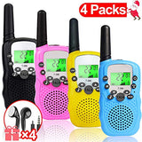iGeeKid 4 Pack Walkie Talkies for Kids 22 Channels 2 Way Radio Kid Holiday Toy Walkie Talkies Gift 4 earpieces 3 Mile Long Range with Flashlight Outdoor Games 312 Years Boy Girls UCB-B07ST99ZHW