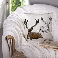 ROOLAYS Outdoor Pillow Cases Square Throw Pillowcase Covers 16X16Inch Elk Both Sides Farmhouse Decor CushionBlue Yellow R5f-B07RZ67D6D