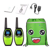 ONFAON Walkies Talkies for Kids22 Channels Long Range Rechargeable Walky Talky with Automatic Battery SaveRange Up to 3 Miles for CampingHikingFishingOutdoor Activities Green v5u-B07QVBNPF2