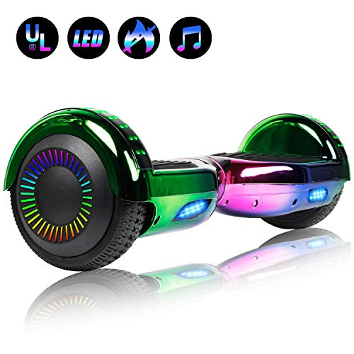 Felimoda Self Balancing Hoverboards with LED Light 65 Inch Two Wheel Smart Hoverboards for Kids and AdultsUL2272 Certified XxV-B07MSG8SVJ