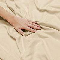 Nestl Bedding Soft Sheets Set 4 Piece Bed Sheet Set 3Line Design Pillowcases Easy Care Wrinkle Free Good Fit Deep Pockets Fitted Sheet Free Warranty Included Full Beige tXN-B00VAOQLKI