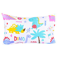 Jpinno Dinosaur Twin Sheet Set for Kids Boys Girls Children100 Cotton Flat Sheet + Fitted Sheet + Pillowcase Bedding Set qRB-B07TPS73PQ