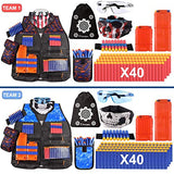 POKONBOY 2 Sets Tactical Vest Kits Compatible with Nerf Guns NStrike Elite Series