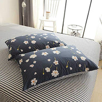 HIGHBUY Daisy Print Pillowcases Set of 2 100 Percent Cotton Kid Girls Soft Bedding Pillow Shams2pcs 2026 Kids Queen Decorative Flower Pillow CoverStandardEnvelope Closure 0bJ-B07BXJNFWP