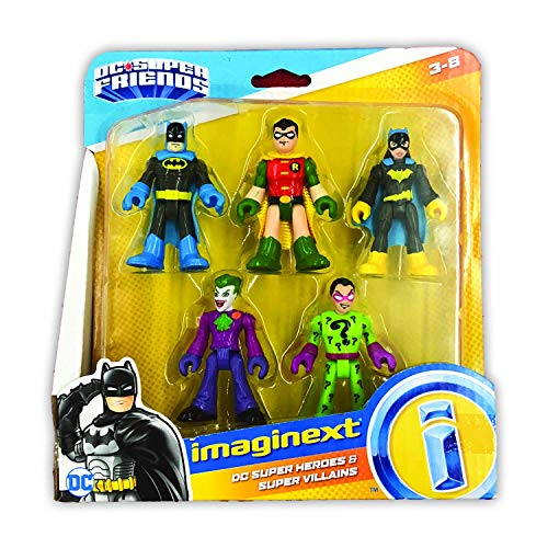 FisherPrice Imaginext DC Heroes and Super Villains Action Figure 5Pack i8g-B07GQ4SSB3