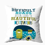EMMTEEY Baby Girl Throw Pillows 18x18 Pillow Covers Home Throw Pillow Covers for Sofa Truck Vehicle Driving Through Wildlife Landscape with National Travel Journey Square Double Sided Printing X4F-B07T94V26P