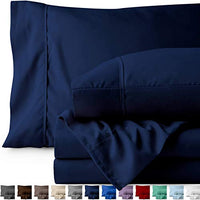 Bare Home Full Sheet Set Kids Size 1800 UltraSoft Microfiber Bed Sheets Double Brushed Breathable Bedding Hypoallergenic Wrinkle Resistant Deep Pocket Full Dark Blue jmf-B019J50TIY