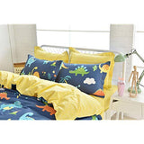 Brandream Kids Bedding Sets Twin Size Blue Dinosaurs Bedding Sets Boys Duvet Cover Set Cotton Reversible 3Piece Zipper ClosureComforter Not Included otd-B07DF7PPFC