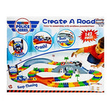 Liberty Imports 142 Pieces Create a Road Super Snap Speedway Magic Journey Flexible Track Set Ideal Gift Toy for Toddlers Kids Boys and Girls Police Chase