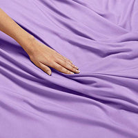 Nestl Bedding Soft Sheets Set 3 Piece Bed Sheet Set 3Line Design Pillowcase Easy Care Wrinkle Free 1016 Inches Deep Pocket Fitted Sheets Warranty Included Twin XL Lavender kbI-B00VAOQDK6