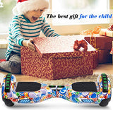 SISIGAD Hoverboard Self Balancing Scooter 65 TwoWheel Self Balancing Hoverboard with Bluetooth Speaker and LED Lights Electric Scooter for Adult Kids Gift UL 2272 Certified Fun Edition E6X-B07MQ4SWRY