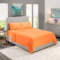 Nestl Bedding Hypoallergenic Wrinkle Free Bedroom Linen Bed Sheet Set Queen Size Apricot Buff Orange uGK-B00VIWUARC