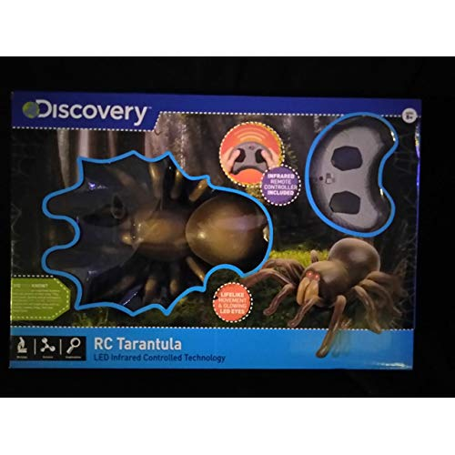 Discovery RC Tarantula Spider With Infrared Remote Controlled Technology Ages 8+ With Lifelike Movement Glowing LED Eyes New In Unopened Box