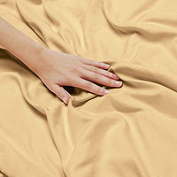 Nestl Bedding 5 Piece Sheet Set 1800 Deep Pocket Bed Sheet Set Hotel Luxury Double Brushed Microfiber Sheets Deep Pocket Fitted Sheet Flat Sheet Pillow Cases Split Cal King Gold TpY-B07JH9Q1N2