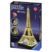 Ravensburger Eiffel Tower Night Edition 216 Piece 3D Jigsaw Puzzle for Kids and Adults Easy Click Technology Means Pieces Fit Together Perfectly 42S-B00IVC1B16