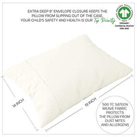 Organic Toddler Pillowcase Set of 2 GOTS Certified Organic Cotton Pillowcase Toddlers Anti Allergy Breathable Safe No Chemicals No Dyes Fits 13x18 Travel Toddler Pillows 14x19 Toddler Pearl White qPc-B07PR4RWSK