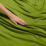 Nestl Bedding Soft Sheets Set 4 Piece Bed Sheet Set 3Line Design Pillowcases Wrinkle Free Good Fit Deep Pockets Fitted Sheet Warranty Included California King Calla Green cMZ-B00W2FEYMG