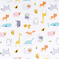 Scientific Sleep Cute Animals Cat Dog Elephant Pig Whale Cotton Cozy Twin Bed Sheet Set Flat Sheet Fitted Sheet Pillowcase Bedding Set 22 Twin hPD-B07YFD2HK9