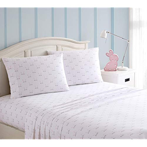 Kute Kids Super Soft Sheet Set Includes Pillowcases Available in Twin Full Queen Size Twin Happy Bunny pPA-B0815S6G7P