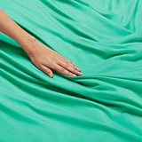 Nestl Bedding Soft Sheets Set 5 Piece Bed Sheet Set 3Line Design Pillowcases Easy Care Wrinkle Free 2 Fit Deep Pocket Fitted Sheets Free Warranty Included Split King Mint ZpG-B01N4MPQB6