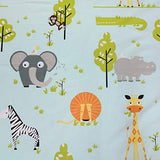 Brandream Kids Bedding Sets Twin Size Boy Woodland Jungle Animals Bedding Egyptian Cotton Duvet Cover Set 3Piece Zoo Bedding Set1 Duvet Cover + 2 Pillow Cases ljT-B078788H57
