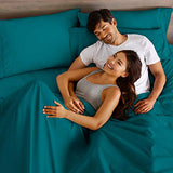 Bare Home Split King Sheet Set 1800 UltraSoft Microfiber Bed Sheets Double Brushed Breathable Bedding Hypoallergenic Wrinkle Resistant Deep Pocket Split King Emerald I2m-B077FHDNLX