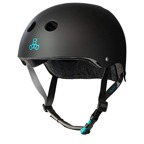 Triple Eight Tony Hawk Signature Model THE Certified Sweatsaver Helmet for Skateboarding BMX and Roller Skating