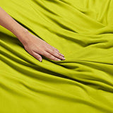 Nestl Bedding Soft Sheets Set 4 Piece Bed Sheet Set 3Line Design Pillowcases Easy Care Wrinkle Free Good Fit Deep Pockets Fitted Sheet Warranty Included King Garden Green UZ6-B00VIWTIS4