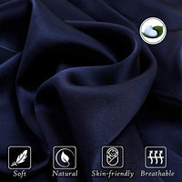 UORG 100 Mulberry Silk Pillowcase for Hair and Skin 22 Momme 600 Thread Count Pure Natural Slip Silk Both Sides Hypoallergenic Soft Breathable Hidden Zipper1 Pc King 20x36 Navy Blue yw0-B07WSG3DGM