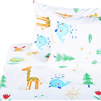 Scientific Sleep Cute Kids Painting Frog Insect Caterpillar Fish Butterfly Soft Sheets Set Full 100 Microfiber Polyester Bedding Sheet Set for Girls Gift 9 Full Yz1-B07PVWT5PT