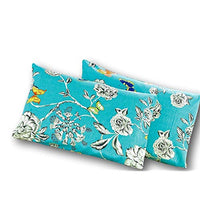 Tache White Floral Colorful Aqua Pillowcase Butterfly Wonderland Cotton Luxurious Decorative 20x30 StandardQueen Pillow Case 2 Piece Set YM0-B01K03TQ0Q