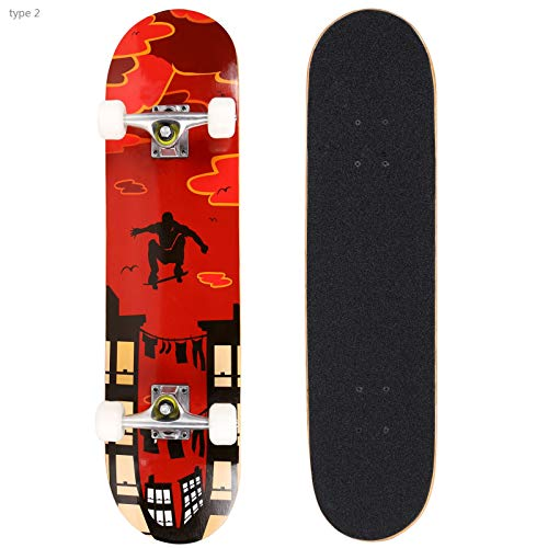 Smibie Skateboards Pro 31 inches Complete Skateboards for Teens Beginners Girls Boys Kids Adults 9 Layer Maple Wood Skateboard lpf-B07Z67SYHT