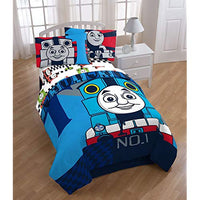 Thomas The Tank Engine Colorblock TwinFull Reversible Comforter Yvz-B01MA4QFV1