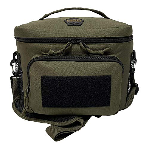 HSD Lunch Bag Insulated Cooler Large Thermal Lunch Box Tote with MOLLEPALS Webbing Adjustable Padded Shoulder Strap for Tactical Men Women Adults Ranger Green vjM-B07GFP11FQ