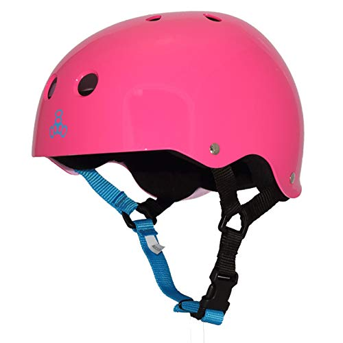 Triple Eight Sweatsaver Liner Skateboarding Helmet Neon Fuschia Glossy Small