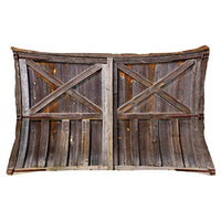 Ambesonne Rustic Throw Pillow Cushion Cover Old Wooden Barn Door of Farmhouse Oak Countryside Village Board Rural Life Photo Print Decorative Rectangle Accent Pillow Case 26 X 16 Brown