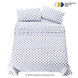 400ThreadCount 100 Cotton Sheets 4 Pc Paisley Blue Cal King Size Printed Sheet Set LongStaple Combed Cotton Bed Sheets Hotel Quality Fits Mattress upto 18 Deep Pocket Soft Sateen Weave IIa-B07QGW16DD