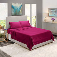 Nestl Bedding Soft Sheets Set 3 Piece Bed Sheet Set 3Line Design Pillowcase Easy Care Wrinkle Free 1016 Inches Deep Pocket Fitted Sheets Warranty Included Twin XL Magenta udc-B07BHQRK2P