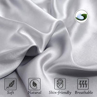 UORG 100 Mulberry Silk Pillowcase for Hair and Skin 22 Momme 600 Thread Count Pure Natural Slip Silk Both Sides Hypoallergenic Soft Breathable Hidden Zipper1 Pc King 20x36 Grey 2JC-B07WSGL8GT