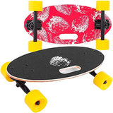 Popsport 19 Inch Mini Longboard Skateboard 440LBS Strong 7 Ply Russian Maple Complete Skateboard Cruiser Skateboard with Handle for Beginners and Pro izq-B07F3WHX97