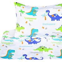 Scientific Sleep Dinosaur Cotton Cozy Twin Bed Sheet Set Flat Sheet Fitted Sheet Pillowcase Natural Bedding Set 15 Twin acA-B07GRQGTG3