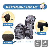 Innovative Soft Kids Knee and Elbow Pads with Bike Gloves | Toddler Protective Gear Set wMesh Bag Sticker | CSPC Certified Comfort | RollerSkating Skateboard Knee Pads for Kids Child Boys Girls zqJ-B07JVRH57T