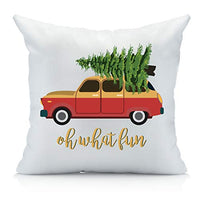 Oh Susannah Oh What Fun Christmas Throw Pillow Cover Multicolor 1 18 by 18 Inches LVO-B077F6NTSQ