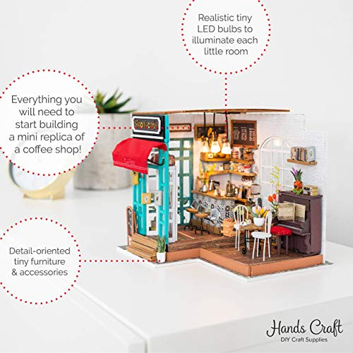 DIY Miniature Dollhouse Kit,3D Wooden Miniature Cathy Flower House with Furniture,Fun Educational Hobby Project for Kids and Adults