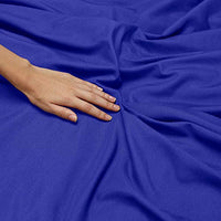 Nestl Bedding Soft Sheets Set 4 Piece Bed Sheet Set 3Line Design Pillowcases Easy Care Wrinkle Free Good Fit Deep Pockets Fitted Sheet Warranty Included Queen Royal Blue Yue-B00W2CXBZ0
