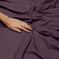 Nestl Bedding Soft Sheets Set 4 Piece Bed Sheet Set 3Line Design Pillowcases Easy Care Wrinkle Free 1016 Good Fit Deep Pockets Fitted Sheet Warranty Included King Purple iCN-B00VANO2BO