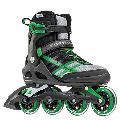 Rollerblade Macroblade 84 Mens Adult Fitness Inline Skate Black and Green Performance Inline Skates 3Gj-B073MCSSPL