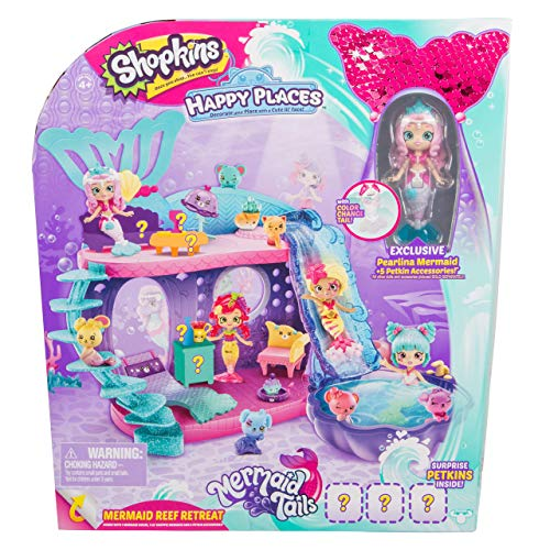 Shopkins Happy Places Mermaid Reef Retreat Playset with Lil Shoppie Mermaid Surprise Petkin agx-B07DYD6PZB